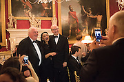 NICOLAS LIJINE;; MIRANDA MIRIANASHVILI; ; LORD POLTIMORE, Professor Mikhail Piotrovsky Director of the State Hermitage Museum, St. Petersburg and <br /> Inna Bazhenova Founder of In Artibus and the new owner of the Art Newspaper worldwide<br /> host THE HERMITAGE FOUNDATION GALA BANQUET<br /> GALA DINNER <br /> Spencer House, St. James's Place, London<br /> 15 April 2015