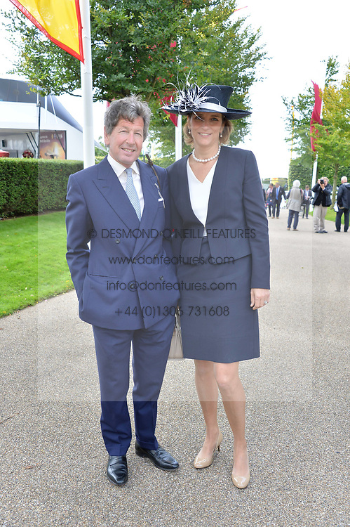 John Warren and Lady Carolyn Warren at the Qatar Goodwood Festival, Goodwood, West Sussex England. 3 August 2017.<br /> Photo by Dominic O'Neill/SilverHub 0203 174 1069 sales@silverhubmedia.com