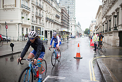 Roxanne Knetemann (NED) of FDJ Nouvelle Aquitaine Futuroscope Team ride to the start of the Prudential Ride London Classique - a 66 km road race, starting and finishing in London on July 29, 2017, in London, United Kingdom. (Photo by Balint Hamvas/Velofocus.com)