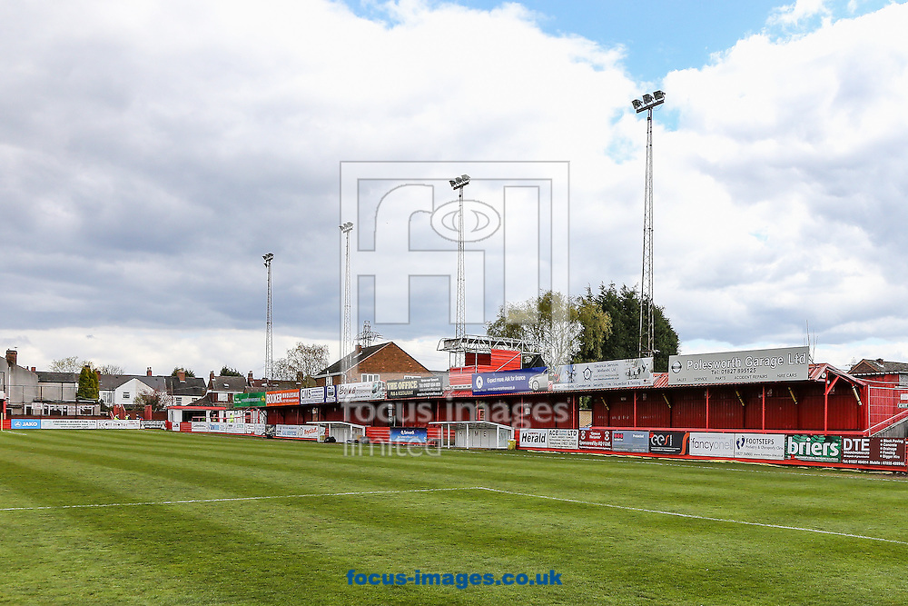 A general view before the National League North match at the Lamb Ground, Tamworth<br /> Picture by Andy Kearns/Focus Images Ltd 0781 864 4264<br /> 23/04/2016