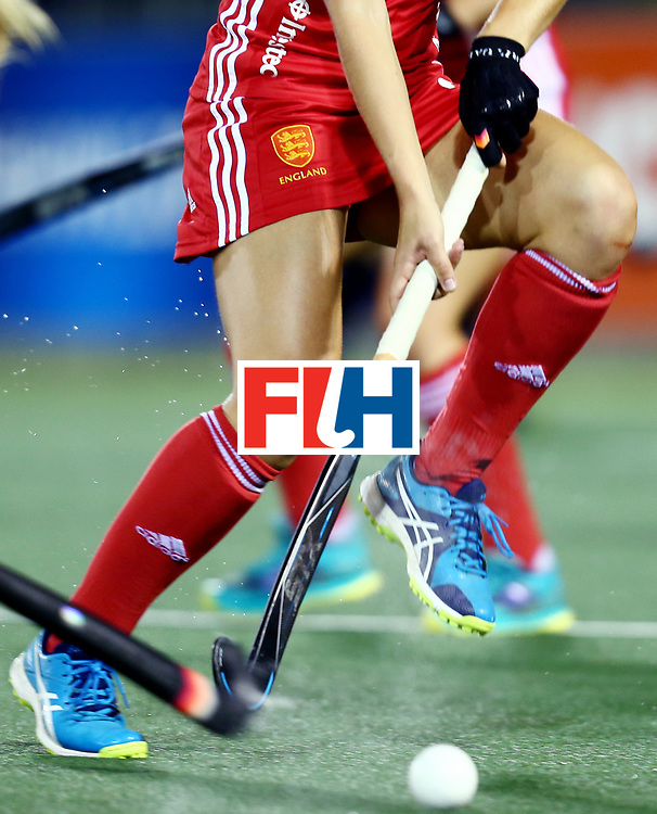 New Zealand, Auckland - 24/11/17  <br /> Sentinel Homes Women&rsquo;s Hockey World League Final<br /> Harbour Hockey Stadium<br /> Copyrigth: Worldsportpics, Rodrigo Jaramillo<br /> Match ID: 10310 - ENG-NZL<br /> Photo: (24) McCALLIN Shona defending