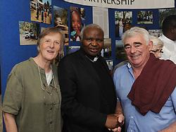 Bishop Cornelius Korir Bishop of Aror with Barbara and Michael Rabbett at the celebration of 35 year's of Westport /Aror Partnership.<br /> Pic Conor McKeown