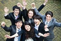 Businesspeople celebrating success