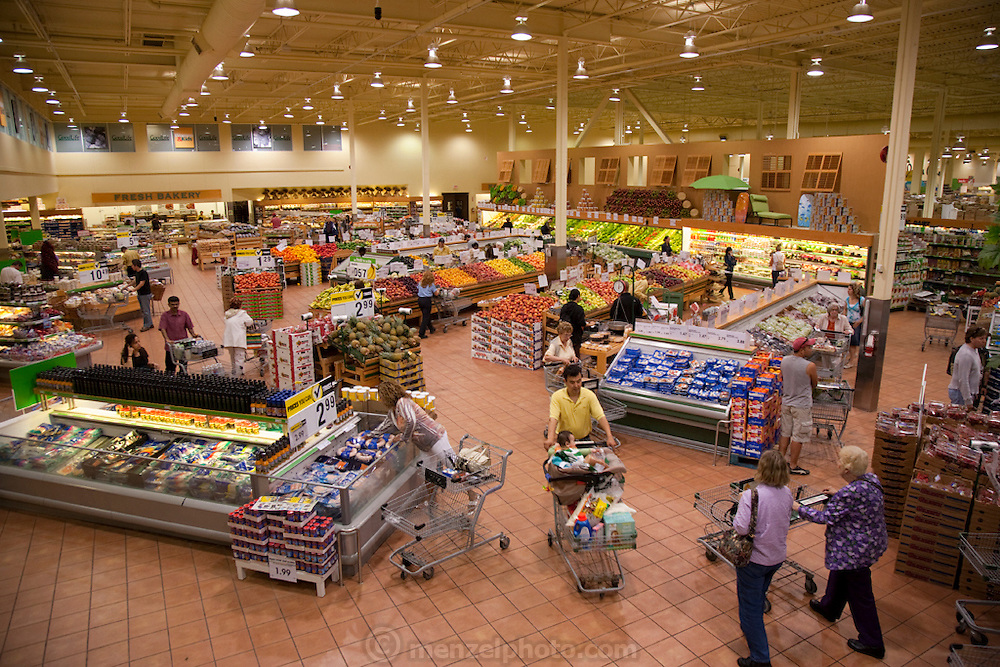 A large supermarket in Toronto, Canada.