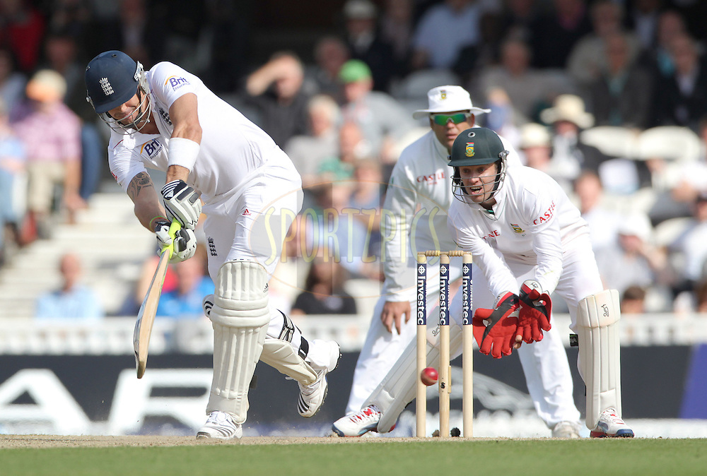 © Andrew Fosker / Seconds Left Images 2012 - England's Kevin Pietersen clips the ball off his legs through mid wicket   England v South Africa - 1st Investec Test Match -  Day 1 - The Oval  - London - 19/07/2012