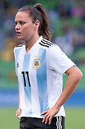MELBOURNE, VIC - MARCH 06: Florencia Bonsegundo (11) of Argentina looks on during The Cup of Nations womens soccer match between Australia and Argentina on March 06, 2019 at AAMI Park, VIC. (Photo by Speed Media/Icon Sportswire)