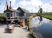 Windmill, smoking fish, Zuiderzee museum, Enkhuizen, Netherlands