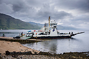 The Corran Ferry, one of the Calmac Caledonian MacBrayne ferries) at Ardgour in Loch Linnhe south of Fort William, Scottish Highlands