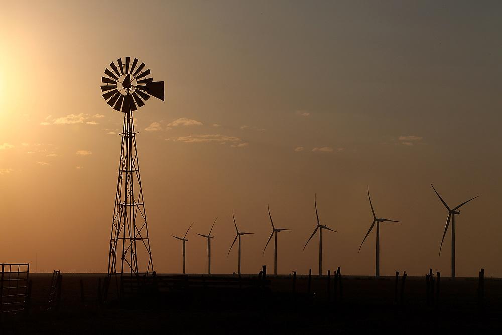 Windmills in Vega, Texas