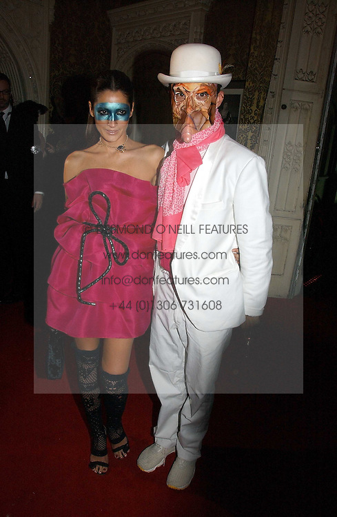 DAN MACMILLAN and  ASTRID MUNOZ at the 2006 Moet & Chandon Fashion Tribute in honour of photographer Nick Knight, held at Strawberry Hill House, Twickenham, Middlesex on 24th October 2006.<br />