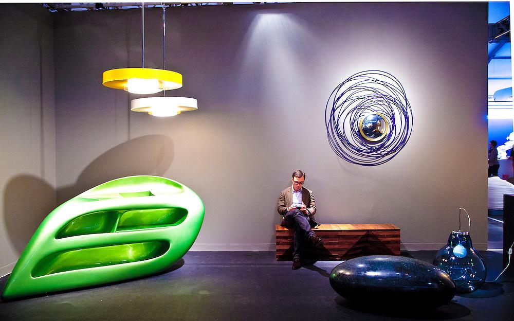 Furniture  at the Design Miami exhibition at Art Basel Miami Beach 2010.