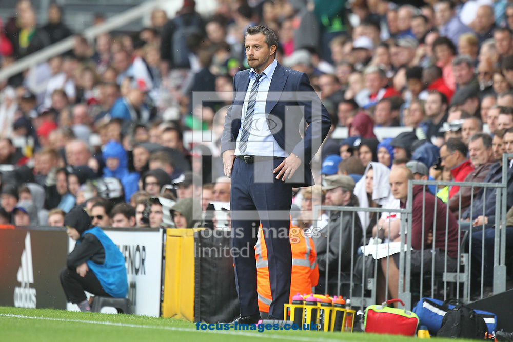 Fulham Manager Slavisa Jokanovic during the Sky Bet Championship match at Craven Cottage, London<br /> Picture by Paul Chesterton/Focus Images Ltd +44 7904 640267<br /> 05/08/2017