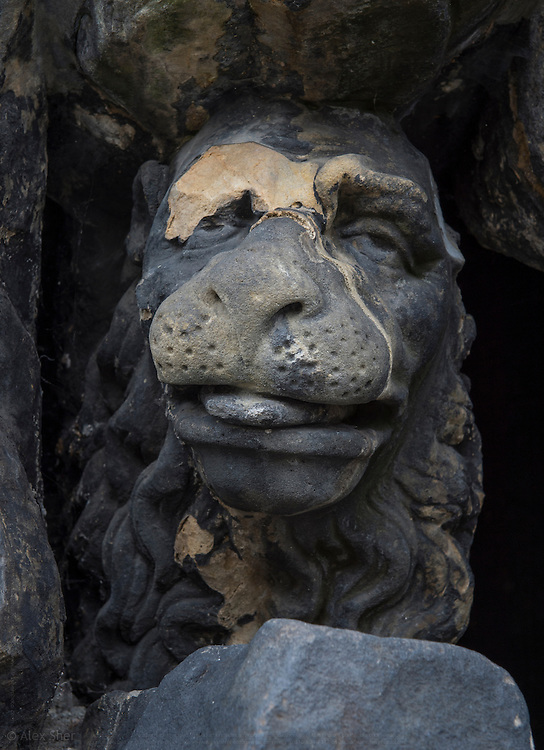 Friendly Lion came to leak St. Daniel's feet<br /> A fragment of a sculpture on Charles Bridge in Prague