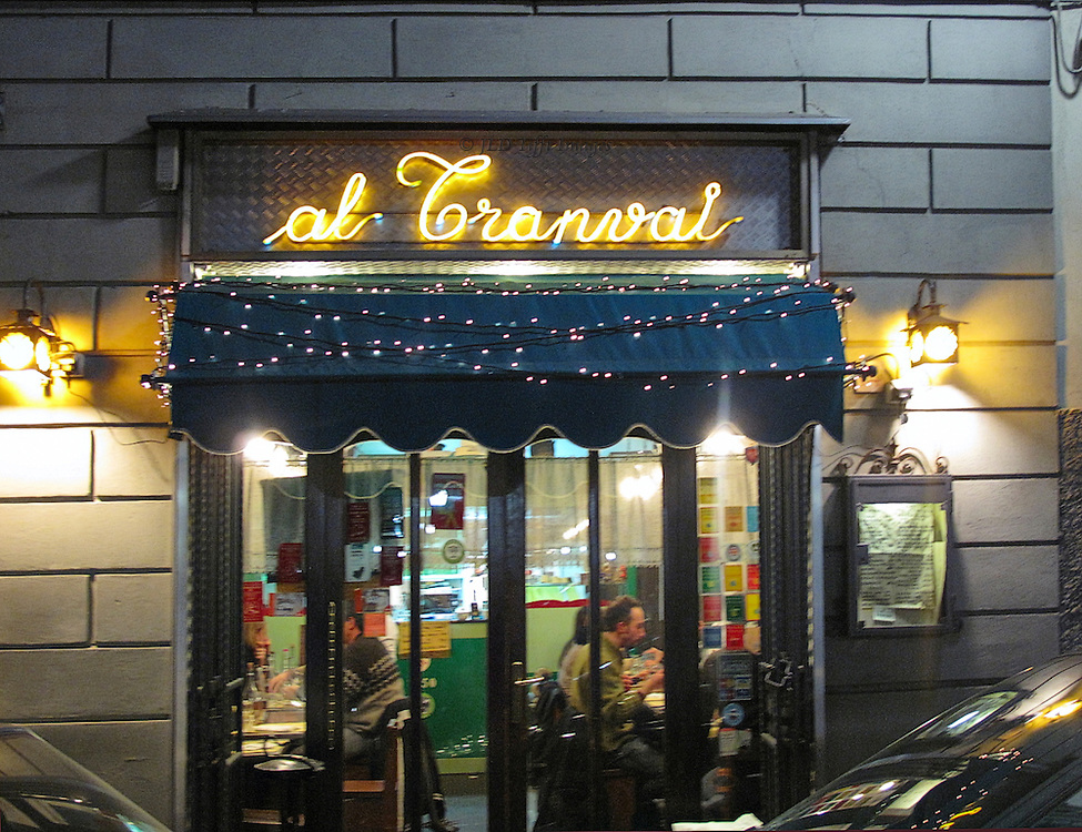 Exterior, trattoria al Tranval, Oltrarno, Firenze.  A true neighborhood trattoria, without tourists.