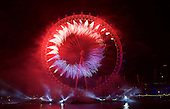 London NYE Fireworks 31st December 2014