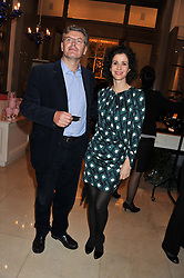 DUNCAN WARD and MOLLIE DENT-BROCKLEHURST at a dinner hosted by Pablo Ganguli and Ella Krasner to celebrate the 10th Anniversary of Liberatum and in honour of Sir Peter Blake held at The Corinthia Hotel, Nortumberland Avenue, London on 23rd November 2011.