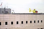 Nederland, Nijmegen, 3-9-2013Traumahelikopter op het helidek op het UMC-Radboud. Spoedgeval. EHBO. Gezondheidszorg. Foto: Flip Franssen