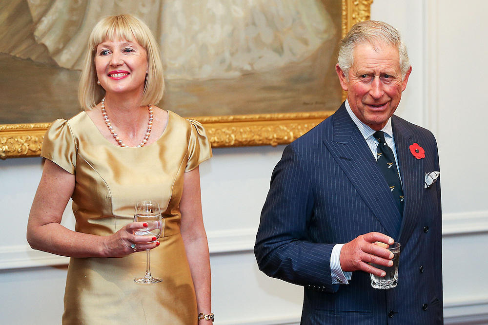 Prince Charles, Prince of Wales, speaks while Lady Janine Mateparae looks on during a State Reception at Government House, Wellington, New Zealand, Wednesday, November 04, 2015. Credit:SNPA / Getty, Hagen Hopkins **POOL**