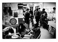 """Recovering hikikomori at """"nabe"""" stew pot luck.    New Start is an NPO organization that helps hikikomori enter society again...Hikikomori, which in Japanese means """"pull away"""" are generally young men (80%) who isolate themselves from the outside world seeking shelter in their rooms often for years at a time."""