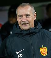 Cheftræner Flemming Pedersen (FC Nordsjælland) under kampen i 3F Superligaen mellem FC Nordsjælland og Randers FC den 22. november 2019 i Right to Dream Park (Foto: Claus Birch).