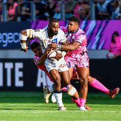 Semi Radradra of Bordeaux and Jonathan Danty of Paris during Top 14 match between Stade Francais and Union Bordeaux Begles on September 1, 2018 in Paris, France. (Photo by Aude Alcover/Icon Sport)