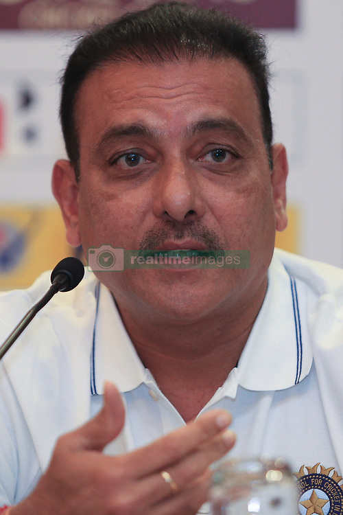 July 20, 2017 - Colombo, Sri Lanka - Indian cricket head coach Ravi Shastri speaks during  a press conference at Colombo, Sri Lanka on Thursday 20 July 2017...India will play 3 test matches, 5 ODI matches and a T20 match against Sri Lanka from  26 th July  onwards. (Credit Image: © Tharaka Basnayaka/NurPhoto via ZUMA Press)