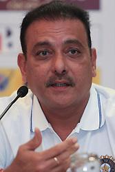 July 20, 2017 - Colombo, Sri Lanka - Indian cricket head coach Ravi Shastri speaks during  a press conference at Colombo, Sri Lanka on Thursday 20 July 2017...India will play 3 test matches, 5 ODI matches and a T20 match against Sri Lanka from  26 th July  onwards. (Credit Image: © Tharaka Basnayaka/NurPhoto via ZUMA Press)