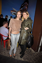 Left to right, MARISSA SACKLER and VALERA TARANTO at the Prada Congo Art Party hosted by Miuccia Prada and Larry Gagosian at The Double Club, 7 Torrens Street, London EC1 on 10th February 2009.