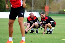Bristol City head coach, Lee Johnson and Adam Baker  - Mandatory by-line: Joe Meredith/JMP - 19/07/2016 - FOOTBALL - Bristol City pre-season training camp, La Manga, Murcia, Spain