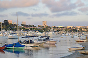 Newport Beach Harbor at Sunset