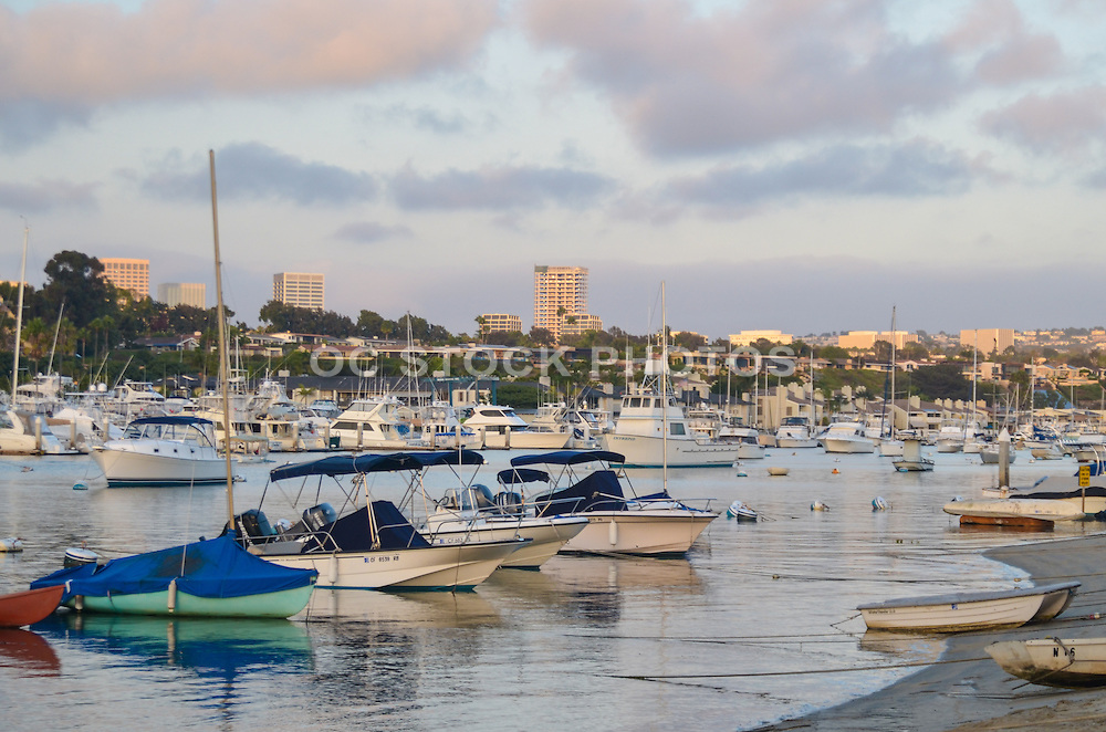 Newport Beach Harbor at Sunset