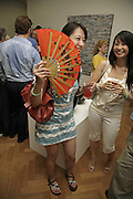 SHIRLEY WONG AND SARAH WONG, Gimpel Fils 60th Anniversary Exhibition. Davies St. London. 27 July 2006. ONE TIME USE ONLY - DO NOT ARCHIVE  © Copyright Photograph by Dafydd Jones 66 Stockwell Park Rd. London SW9 0DA Tel 020 7733 0108 www.dafjones.com