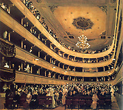 Gustav Klimt.  Auditorium in the Old Burgtheater in Vienna 1888