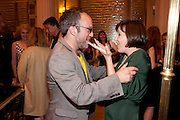 MARK FLEISCHMANN;  KACEY AINSWORTH Aldwych theatre's Cool Hand Luke first night party. Waldorf Hilton. London. 3 October 2011. <br /> <br />  , -DO NOT ARCHIVE-© Copyright Photograph by Dafydd Jones. 248 Clapham Rd. London SW9 0PZ. Tel 0207 820 0771. www.dafjones.com.