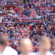 in action during the US Men's National Team Vs Turkey friendly match at Red Bull Arena.  The game was part of the USA teams three-game send-off series in preparation for the 2014 FIFA World Cup in Brazil. Red Bull Arena, Harrison, New Jersey. USA. 1st June 2014. Photo Tim Clayton