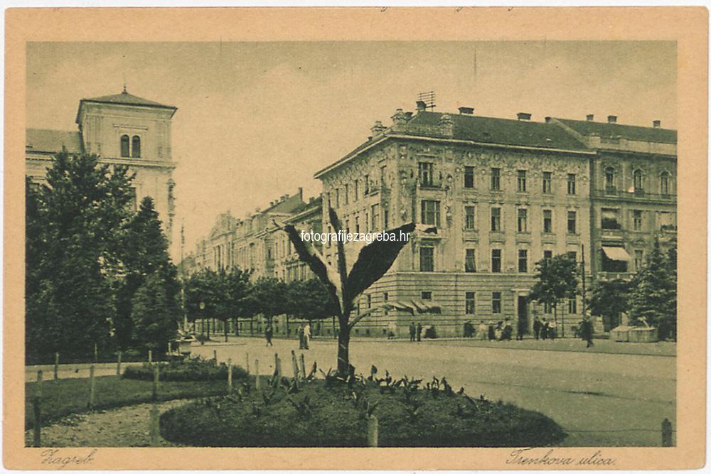 Zagreb : Trenkova ulica. <br /> <br /> ImpresumZagreb : Naklada Rudolf Polaček, 1925.<br /> Materijalni opis1 razglednica : tisak ; 9 x 14 cm.<br /> NakladnikRudolf Polaček<br /> Mjesto izdavanjaZagreb<br /> Vrstavizualna građa • razglednice<br /> ZbirkaGrafička zbirka NSK • Zbirka razglednica<br /> Formatimage/jpeg<br /> PredmetZagreb –– Ulica Baruna Franje Trenka<br /> SignaturaRZG-TRENK-6<br /> Obuhvat(vremenski)20. stoljeće<br /> NapomenaRazglednica nije putovala.<br /> PravaJavno dobro<br /> Identifikatori000954939<br /> NBN.HRNBN: urn:nbn:hr:238:425538 <br /> <br /> Izvor: Digitalne zbirke Nacionalne i sveučilišne knjižnice u Zagrebu