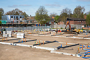 Foundations ready for new house building on a construction site in Norwich. Norfolk. United Kingdom <br /> (photo by Andrew Aitchison / In pictures via Getty Images)
