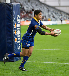 Otago's Josh Ioane pass the ball from behind the try line against Southland in the Mitre 10 Cup rugby match, Forsyth Barr Stadium, Dunedin, New Zealand, Sunday, October 14 2017.  Credit:SNPA / Adam Binns ** NO ARCHIVING**