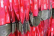 Finishers medals at the Virgin Money 2019 London Marathon, London, United Kingdom on 28 April 2019.