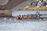Boston, USA, Master Women's eights, Marin RC, approaching the John Weeks Bridge during the Head of the Charles, Race Charles River,  Cambridge,  Massachusetts. Saturday  20/10/2007 [Mandatory Credit Peter Spurrier/Intersport Images]..... , Rowing Course; Charles River. Boston. USA