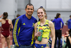 BAA coach Ric Santos, Samantha Nadal<br /> Multi-team Meet Indoor Track & Field