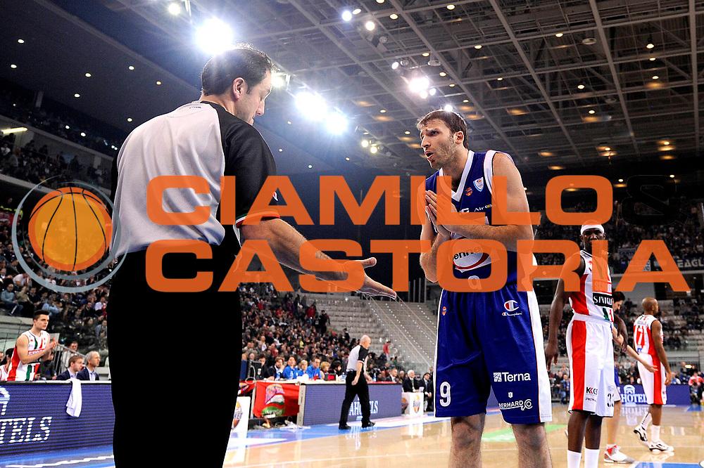 DESCRIZIONE : Torino Coppa Italia Final Eight 2012 Semifinale Scavolini Siviglia Pesaro Bennet Cantu <br /> GIOCATORE : Vladimir Micov<br /> CATEGORIA : delusione<br /> SQUADRA : Bennet Cantu<br /> EVENTO : Suisse Gas Basket Coppa Italia Final Eight 2012<br /> GARA : Scavolini Siviglia Pesaro Bennet Cantu<br /> DATA : 18/02/2012<br /> SPORT : Pallacanestro<br /> AUTORE : Agenzia Ciamillo-Castoria/C.De Massis<br /> Galleria : Final Eight Coppa Italia 2012<br /> Fotonotizia : Torino Coppa Italia Final Eight 2012 Semifinale Scavolini Siviglia Pesaro Bennet Cantu<br /> Predefinita :