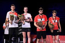 DK:<br /> 20190209, &Aring;rhus, Danmark:<br /> Badminton Danmark FZ Forza/RSL DM 2019. <br /> Mixed Double: S&oslash;lvvindere Mathias Christiansen og Christinna Pedersen vs. Guldvindere Mathias Bay Schmidt og Rikke S&oslash;by Hansen.<br /> Foto: Lars M&oslash;ller<br /> UK: <br /> 20190209, Aarhus, Denmark:<br /> Badminton Danmark FZ Forza/RSL DM 2019.<br /> Mixed Double: Mathias Christiansen og Christinna Pedersen vs. Mathias Bay Schmidt og Rikke S&oslash;by Hansen.<br /> Photo: Lars Moeller