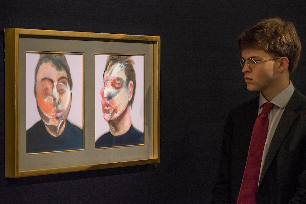 FRANCIS BACON Two Studies for a Self-portrait, 1970, Estimate $22,000,000-30,000,000 - Sotheby's previews New York sales of Impressionist, Modern and Contemporary Art.   London Exhibition Dates 9- 13 April 2016, New York Sale Dates Impressionist & Modern Art Evening Sale: 9 May 2016 and Contemporary Art Evening Auction: 11 May 2016