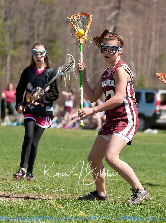 Lakes Region Lacrosse U13 girls versus Concord Crush May 1, 2011.