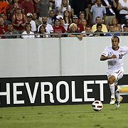 USA midfielder Landon Donovan (10) breaks away toward the goal during a  CONCACAF Gold Cup soccer match between the United States and Panama on Saturday, June 11, 2011, at Raymond James Stadium in Tampa, Fla. (AP Photo/Alex Menendez)