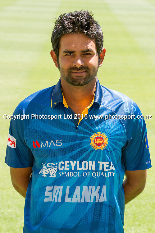 Lahiru Thirimanne, Sri Lanka International One Day cricket Headshots, Hagley Oval, Christchurch. 10 January 2015. Copyright Photo: Michael Rist/www.photosport.co.nz