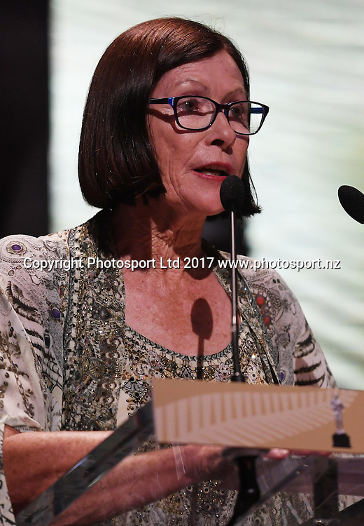 Sue Pavish.<br /> The 54th Halberg Awards in support of the Halberg Disability Sport Foundation. Vector Arena, Auckland, New Zealand. Thursday 9 February 2017. &copy; Copyright photo: Andrew Cornaga / www.photosport.nz