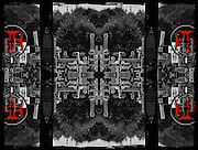 Manipulated black and white by Leandra Melgreen Lewis taken at the Hill of Crosses, Lithuania