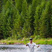 Fly fishing the Middle Fork of the Flathead River and McDonald Creek in Glacier National Park, Montana.